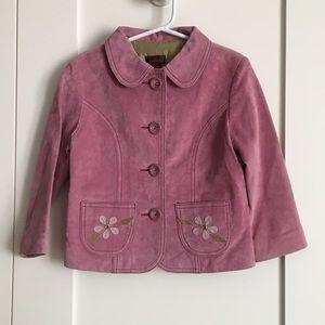 Danier Genuine Suede Leather Jacket (Girls 3)